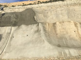 Delimara Power Station – Stabilisation of exposed rock face